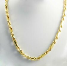 "137.80 gm 14k Yellow Solid Gold Men's Figarope Milano Chain Necklace 28"" 7 mm"