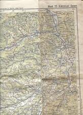 (115) ältere Landkarte Bl23 Kärntner Seen Freytag Berndt  Artaria Wien 1:100.000