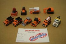 Vintage Galoob Micro Machines Lot Of 10 Construction Vehicles Steamroller Trucks