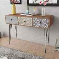 Console Table with 3 Drawers Side Cabinet Sideboard Plant Stand Desk Chest Brown