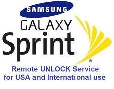 GSM SIM Unlock Sprint Samsung Galaxy S8 S8+ S5 S4 Note 4 Note 3, Note Edge