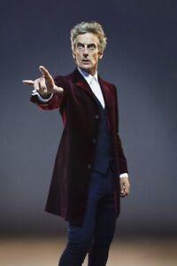 Doctor Who Peter Capaldi Twelfth 12th Doctor Maroon Velvet Coat Jacket (M)