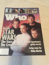 RARE AUSTRALIAN RELEASE WHO MAGAZINE EPISODE ONE 1 STARWARS STAR WARS HASBRO