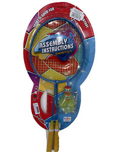 Assembly instructions Kids badminton set with 2 shuttlecocks