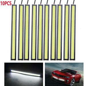 10Pcs White LED COB Strip DRL Daytime Running Lights Fog Car Lamp Waterproof HOT
