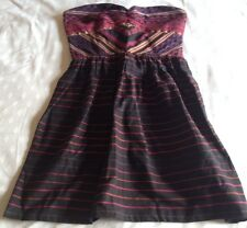 NWT Roxy Quiksilver Women Strapless Sundress Form Fitting Stretchable Back sz M