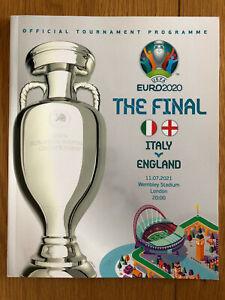 Official Euro 2020 Final Football Programme Italy v England 11 July 2021