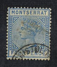 CKStamps: GB Montserrat Stamps Collection Scott#9 Used Lightly Crease Signed
