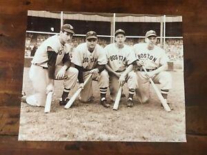 Ted Williams Dom DiMaggio BobbyDoerr,Vern Stephens Boston Red Sox Historic Photo