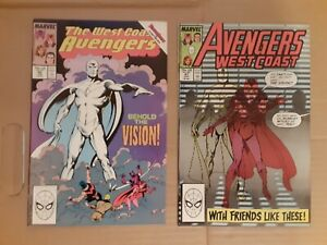 West Coast Avengers 45 & 47, 1st White Vision. Great condition
