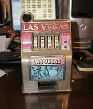 Vintage Metal Toy Slot Machine Piggy Bank Las Vegas Nevada