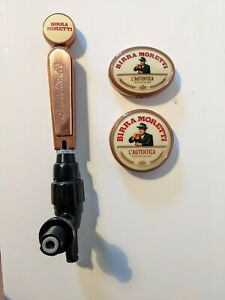 Birra Moretti Beer Tap Handle + 2 Badges (Man Cave, Home Bar, Pub, Breweriana)