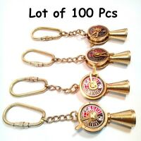 LOT OF 10 VINTAGE STYLE ANTIQUE BRASS TELEGRAPH NECKLACE KEY RING GIFT