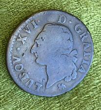 France Sol 1791 A - Copper - Louis XVI