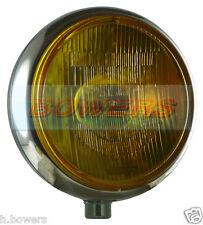 "SIM STAINLESS STEEL CHROME 9"" CIBIE SUPER OSCAR YELLOW SPOT/DRIVING LAMP/LIGHT"