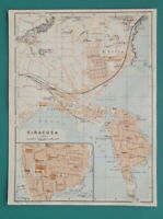 "1934 MAP 6 x 8"" (15 x 20 cm) - SYRACUSE City Plan Italy"