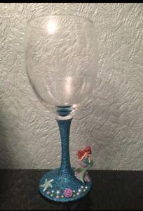 Disney Ariel Glittered Wine Glass x The Little Mermaid x Disney Princess