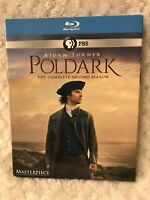 PBS Masterpiece: Poldark Blu-ray Disc SEASON 2 Three Disc Set Aidan Turner EUC