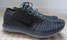 Nike Free RN Motion Flyknit Mens Running Shoes Grey Green black EU 43 UK 8.5
