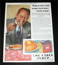 1930 OLD MAGAZINE PRINT AD, TOWLE'S LOG CABIN SYRUP, MAKE PANCAKES TASTE GOOD!