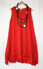 Moonshine Tunika Kleid Gerafft  Gr 42 44 46 Lagenlook Rot Gerafft Baumwolle Neu