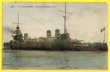 cpa MARINE de GUERRE Navy Navire CROISEUR CUIRASSÉ LÉON GAMBETTA en 1907 à ROYAN