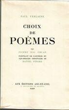 Paul verlaine Choix de Poèmes par Pierre Mac Orlan  illustr par Pipard