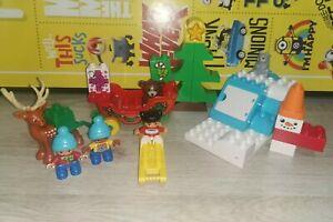 LEGO DUPLO 10837 Santa's Winter Holiday Christmas Sleigh Reindeer