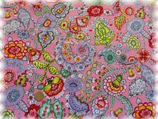 Christine Popeline rosa Baumwolle Blumen und Ornamente 50 cm Webware