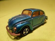 MAJORETTE  1:60 VW VOLKSWAGEN BEETLE  BLUE  KAFER  - 202   -   IN GOOD CONDITION