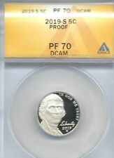 2019-S San Francisco ANACS Authenicated Jefferson Nickel Five PF 70!