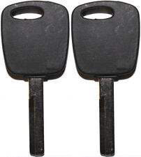 2 NEW FOR VOLVO S40 V40 1999-2004 MASTER TRANSPONDER UNCUT CHIPPED KEY BLANK