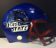 Boise State Broncos Wall Unit Helmet And Face mask Blue And Orange