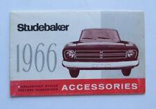 1966 Studebaker Accessories Brochure Vintage Original