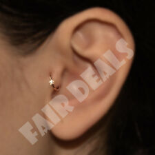 Diamate Crystal Star Silver Gold Cartilage Tragus Nose Hoop Helix Ring Earing