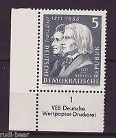 DDR Nr.   857 **  Geburtstag von Franz Liszt  Druckvermerk