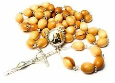 3rd Class wooden relic rosary St Catherine of Bologna patron of Bologna Against
