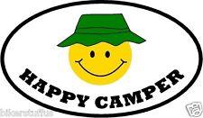 HAPPY CAMPER BUMPER STICKER WINDOW STICKER LAPTOP STICKER TOOLBOX STICKER