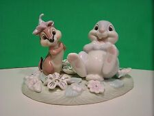 LENOX Disney THUMPER'S FLOWERY FRIEND sculpture NEW in BOX with COA Bambi