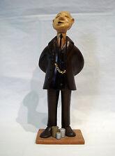 Romer - The Banker - Vintage Wood Carved Figurine - Italy