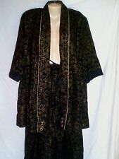 THE AFRICAN VILLAGE  FULL LENGTH SKIRT & JACKET  BLACK & GOLD ONE SIZE FITS MOST