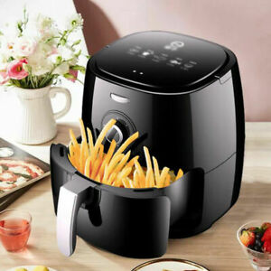 UK 5L1350W Air Fryer Healthy Frying Cooker Low Fat Oil Free Kitchen Oven Timer
