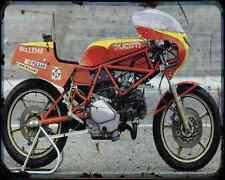 Ducati 500 Pantah Tt2 1 A4 Metal Sign Motorbike Vintage Aged