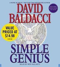 King & Maxwell: Simple Genius by David Baldacci Audio Book CD 2008 Abridged
