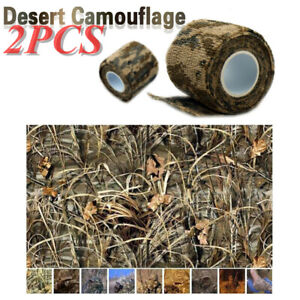 2pcs Waterproof 5CMx4.5M Desert Camouflage ACU Stealth Wrap Tape for Aitsoft