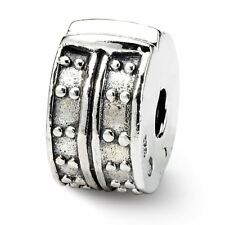Sterling Silver Reflection Hinged Dotted Clip Bead MSRP $73