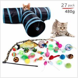 Bulk Buy Cat Kitten Toys Bundle Rod Fur Mice Bells Balls Catnip 10 items BARGAIN