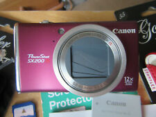 Canon PowerShot SX200 IS 12.1MP Digital Camera - Red- EXCELLENT CONDITION