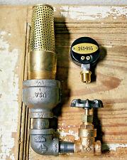 Vintage Heavy Gauge Brass Valve Lot, Misc Steampunk Parts, Pressure Fitting Lot