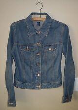 GAP 100% Cotton Denim Jean Jacket S Fitted Button Front
